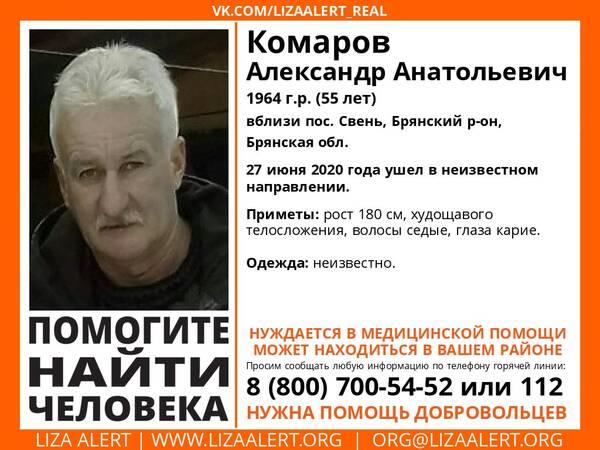 В Брянской области пропал 55-летний мужчина