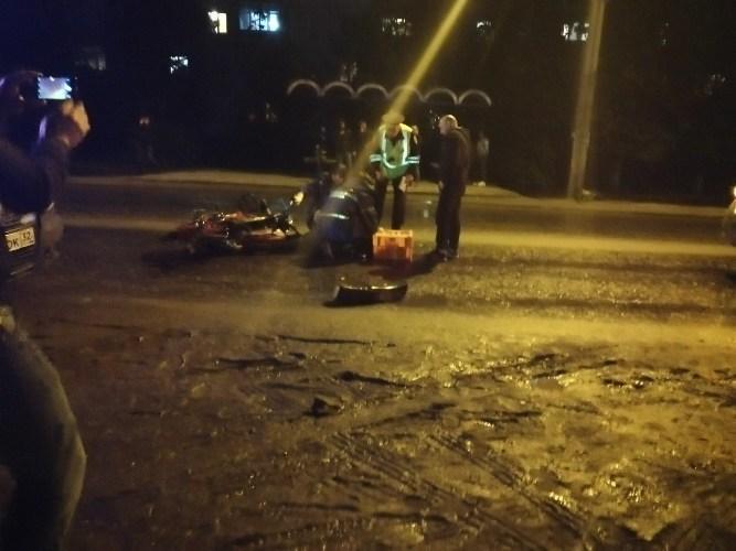 В Брянске на Ново-Советской автомобиль сбил мотоциклиста