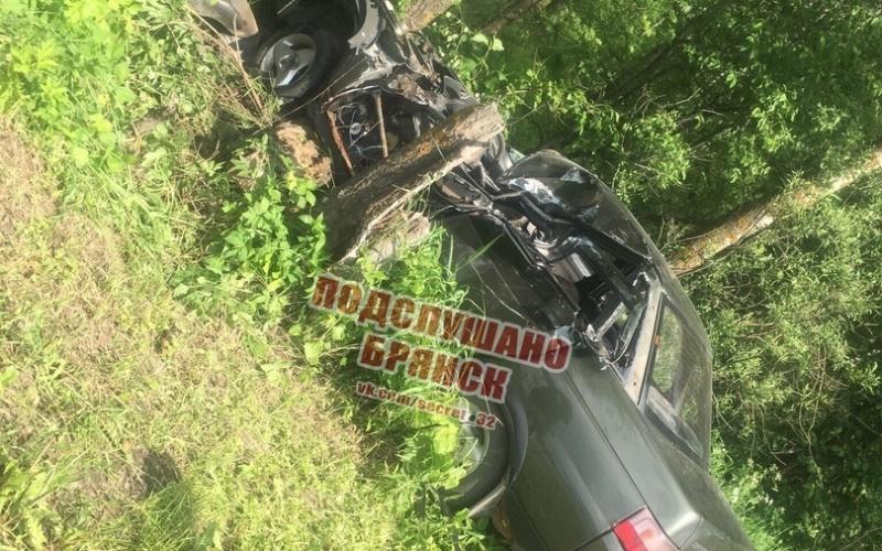 Появилось видео с места смертельного ДТП под Брянском