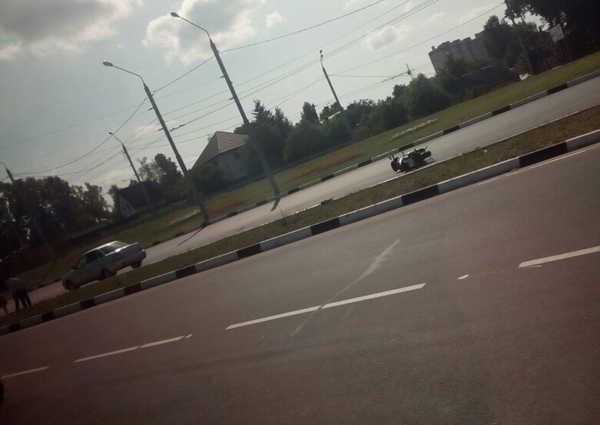 В Брянске разбилась мотоциклистка