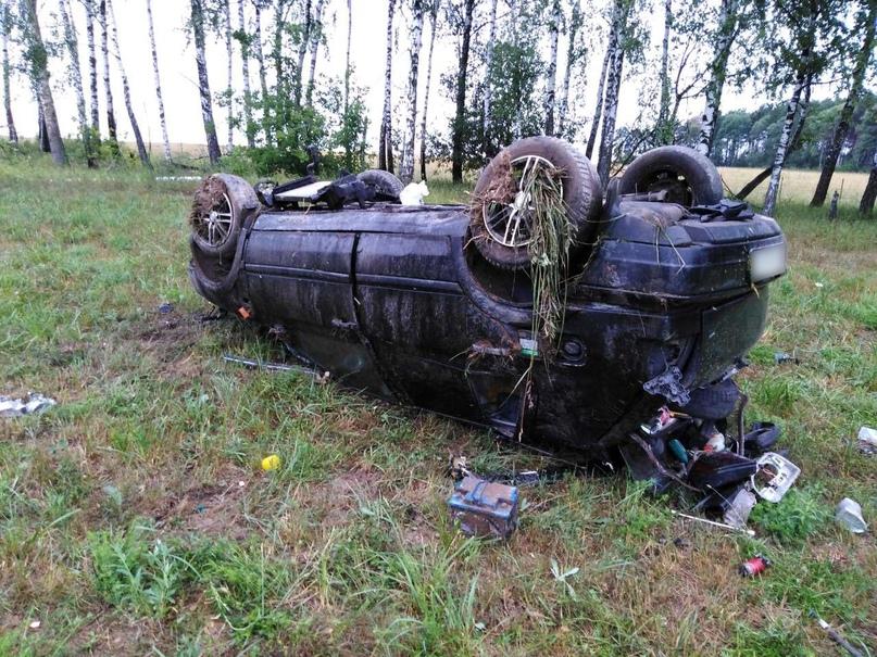 В Погарском районе разбил голову 25-летний водитель иномарки