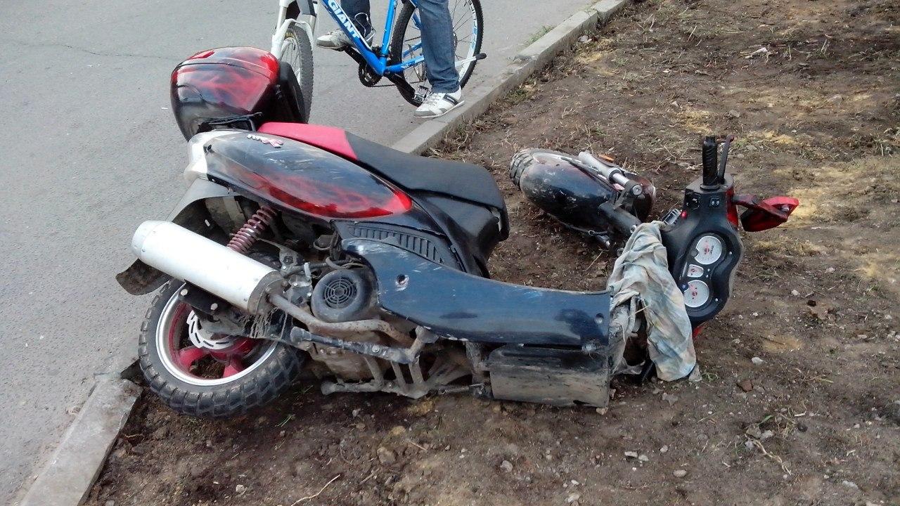В ДТП в Новозыбкове пострадала пожилая пара на скутере