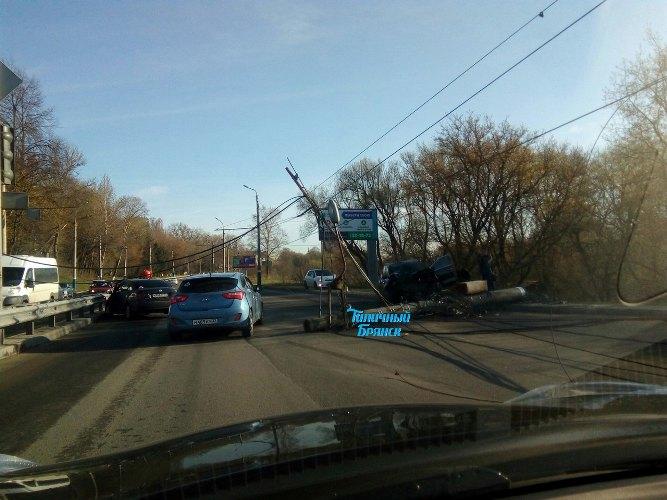 Сегодня утром в Брянске произошло страшное ДТП