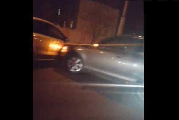 В Брянске сняли на видео ДТП на улице Ульянова