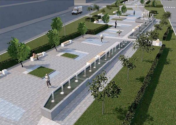 В Брянске появится 45-метровый каскадный фонтан