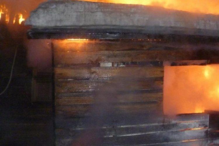 В Клетне сгорела частная баня