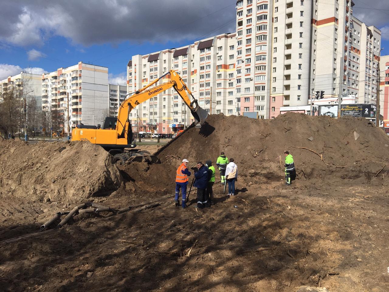 В Брянске возобновилось строительство улицы Советской