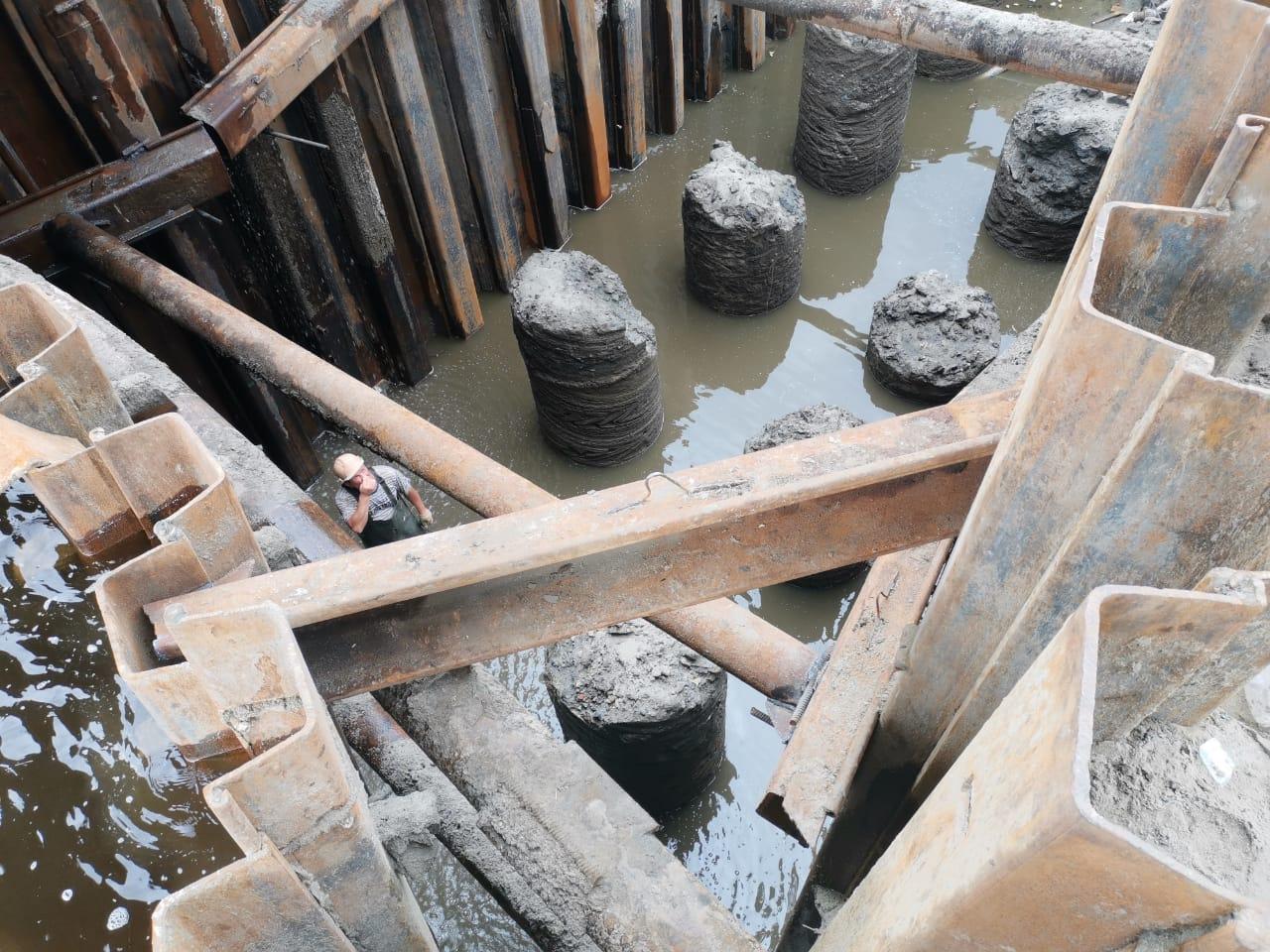 На Литейном мосту в Брянске готовы 10 из 12 опор