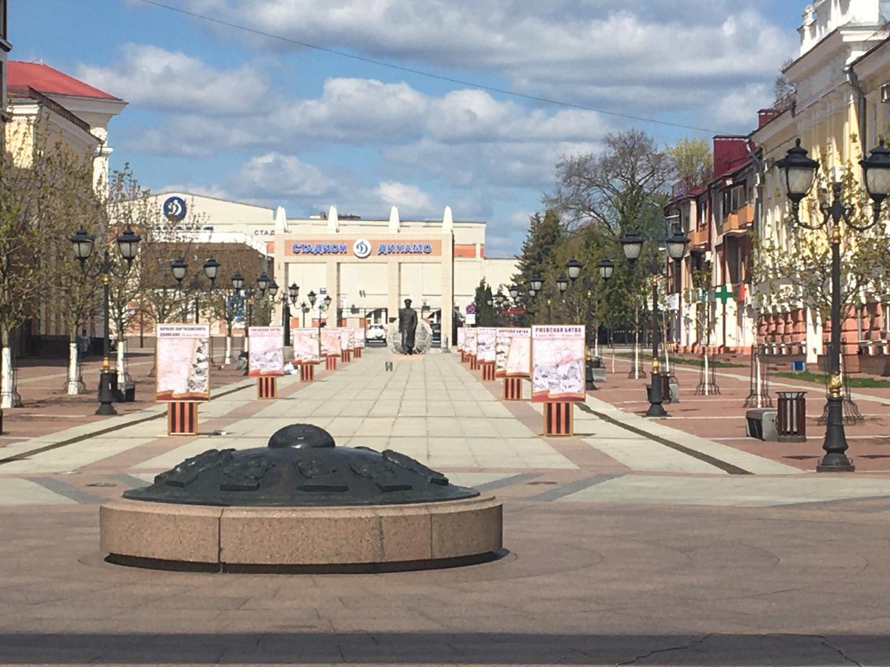 На бульваре Гагарина в Брянске установили патриотические инсталляции