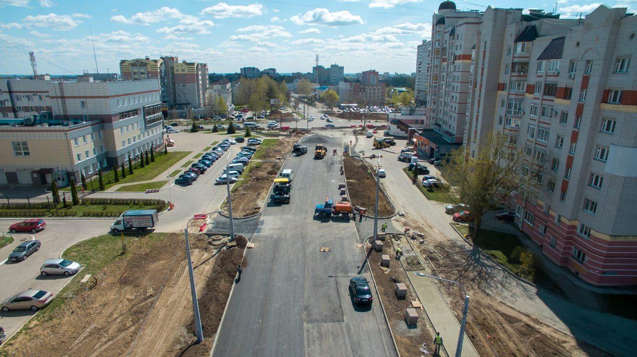 В Брянске на 60 процентов построили дорогу на улице Советской