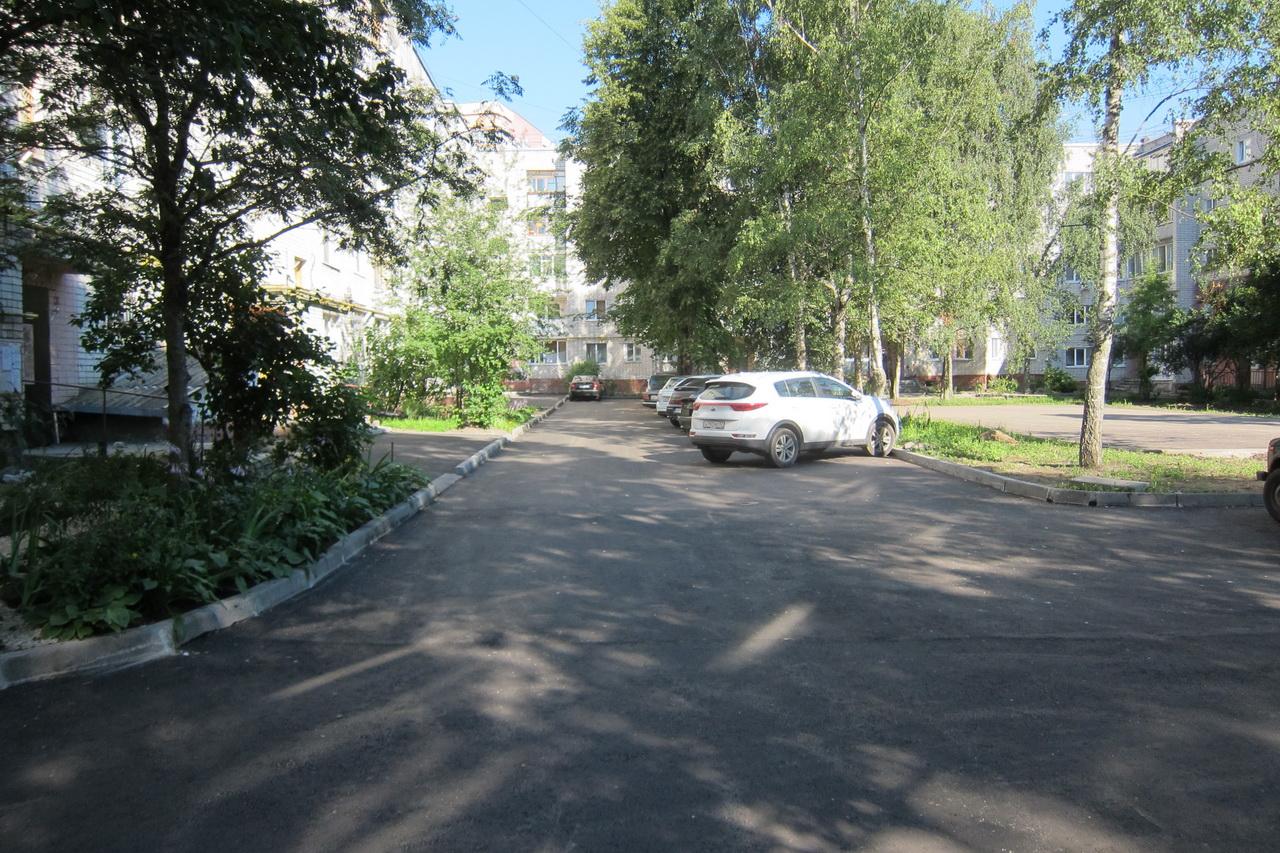 В Брянске ремонтируют двор по улице Горького