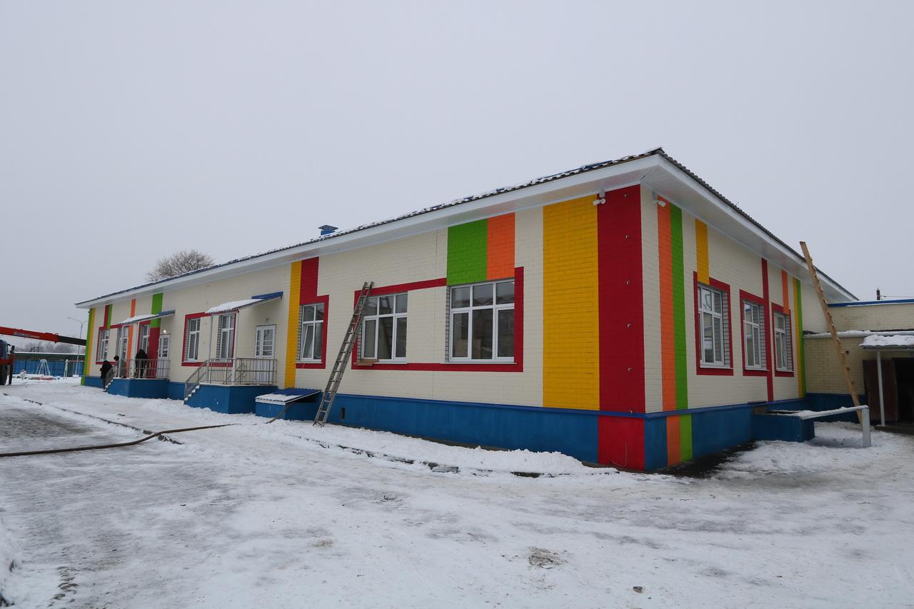 В брянском поселке Большое Полпино готова к сдаче пристройка детсада №15