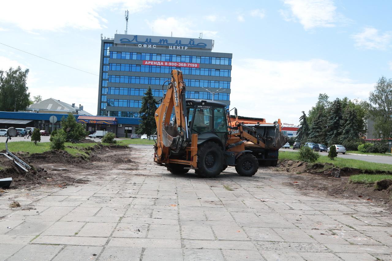 В Брянске приступили к благоустройству сквера «Литий»