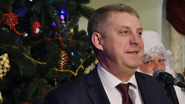 Губернатор Богомаз принял поздравление с Новым годом от Президента Путина