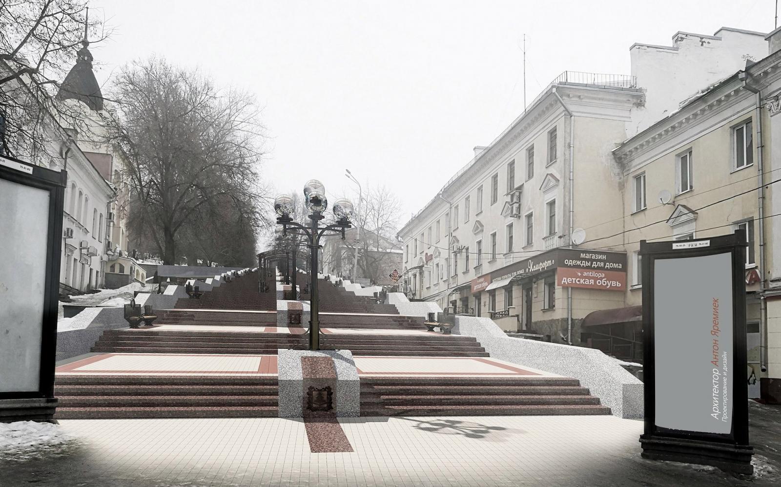 Бульвар Гагарина в Брянске превратился в сплошную ледяную гору