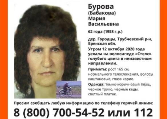 Брянских водителей попросили помочь в поиске пропавшей женщины