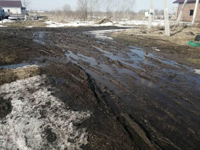Дороги в брянском поселке Выгоничи превратились в непроходимое болото