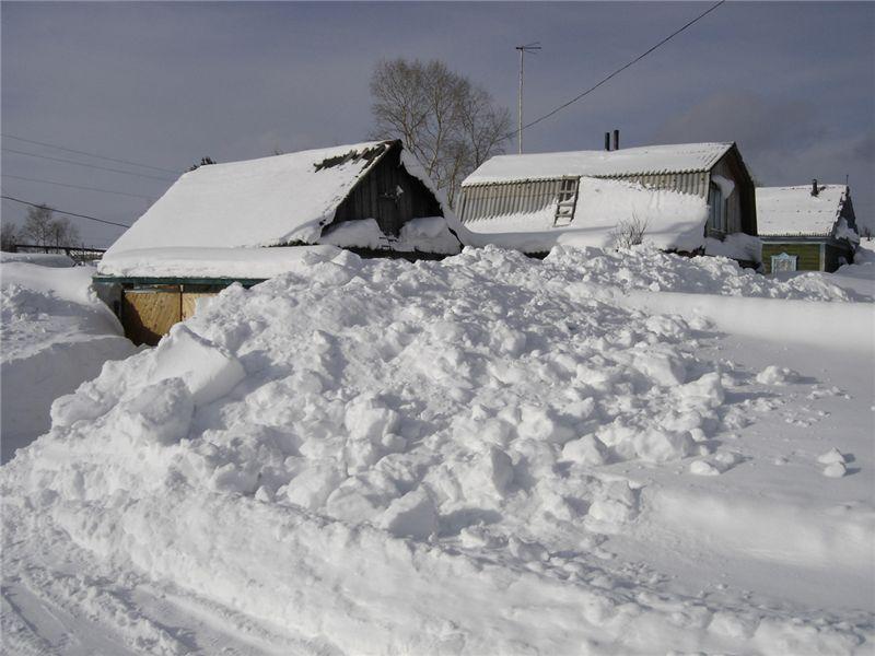 Жителям улицы Абашева в Брянске завалило снегом вход в дома