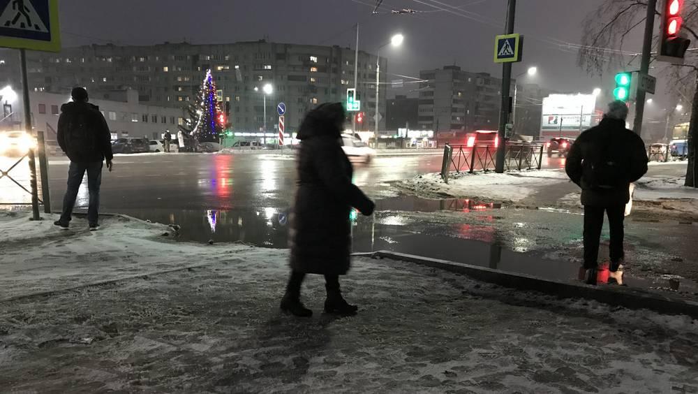 Новый год начался в Брянске с дождливой погоды