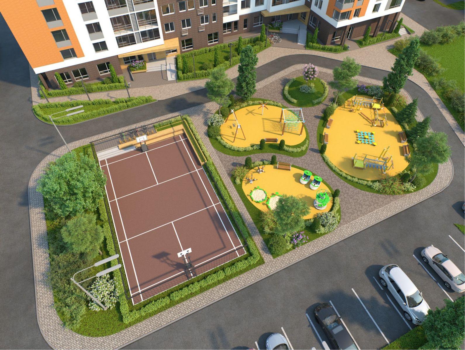 Благоустраивают дворы и общественные территории в Дятьковском районе Брянской области