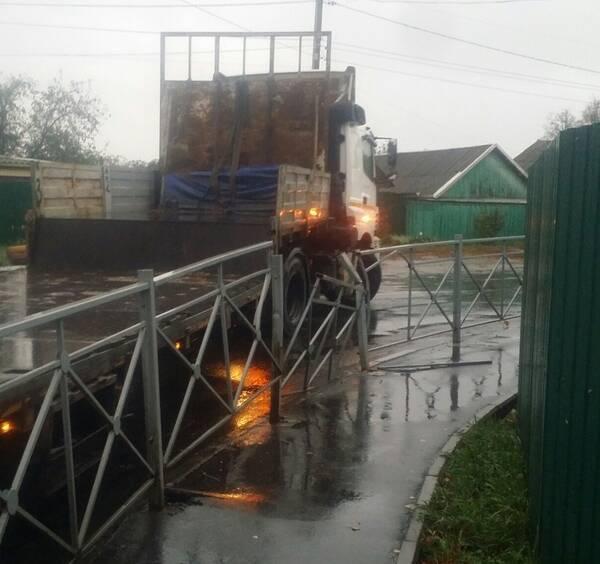 Жители Почепа пожаловались на опасный поворот на улице Красноармейской