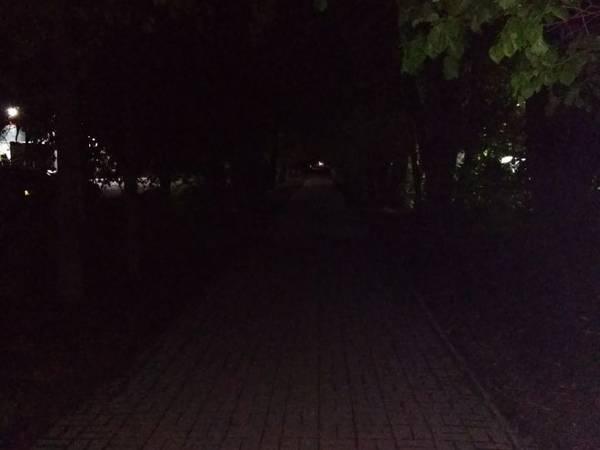 Темная аллея на улице Брянского фронта напугала жителей города