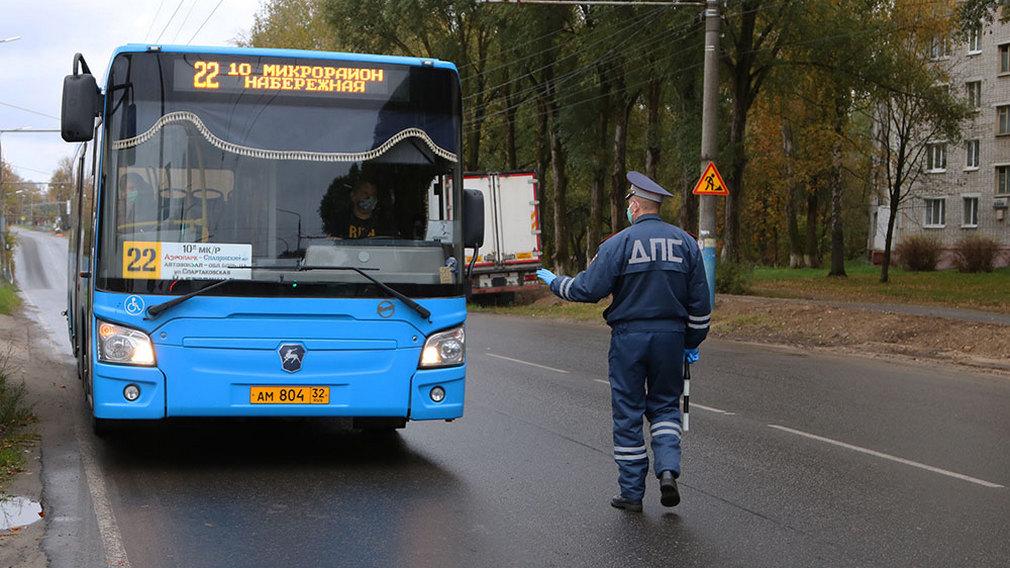 В Брянске составили протоколы на водителей и пассажиров автобусов