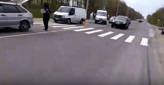 Под Брянском бригада скорой помощи попала в ДТП