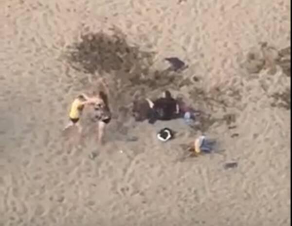 Сняли на видео драку девушек на пляже в Брянске