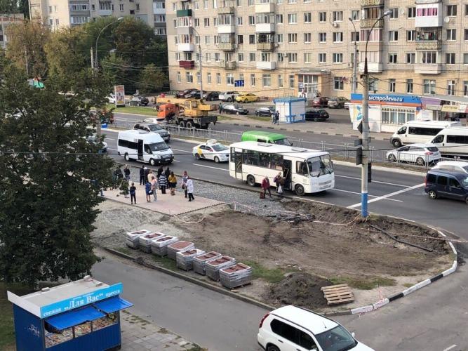 В Фокинском районе Брянска снесли остановку