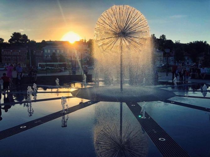В Брянске закрыли фонтан на Набережной