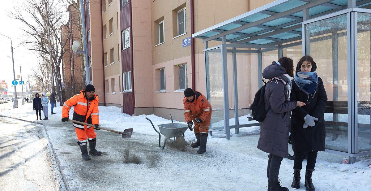 В Брянске водителей маршруток №43 упрекнули в саботаже из-за гололеда