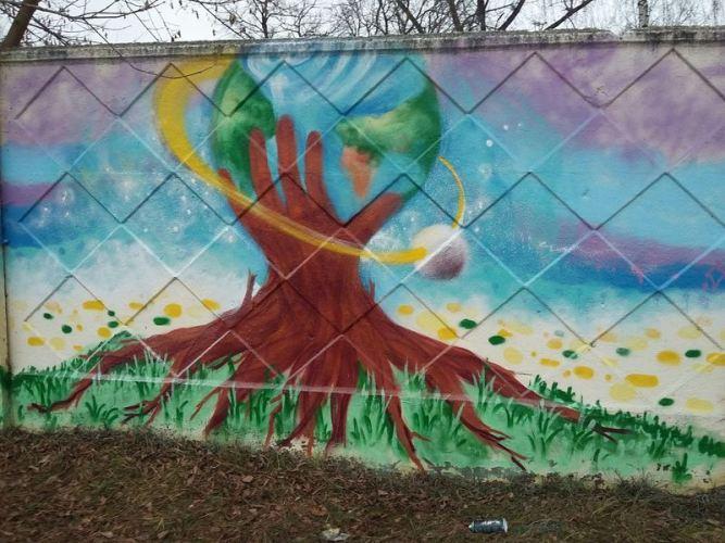 В Брянске прошел фестиваль граффити «Мир вокруг нас»