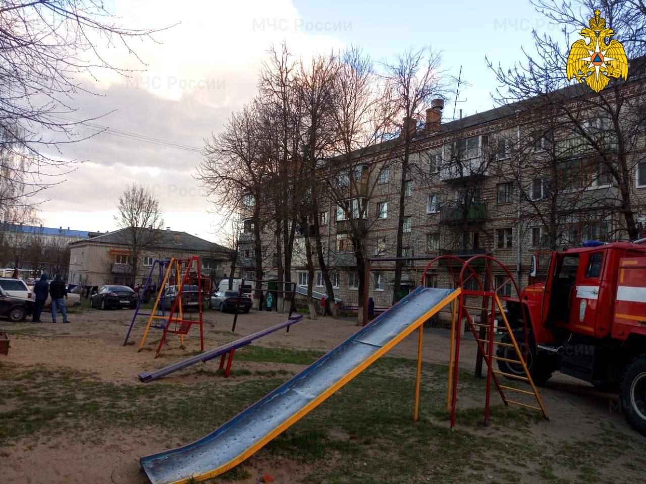 В Клинцах в горящей квартире пострадал человек