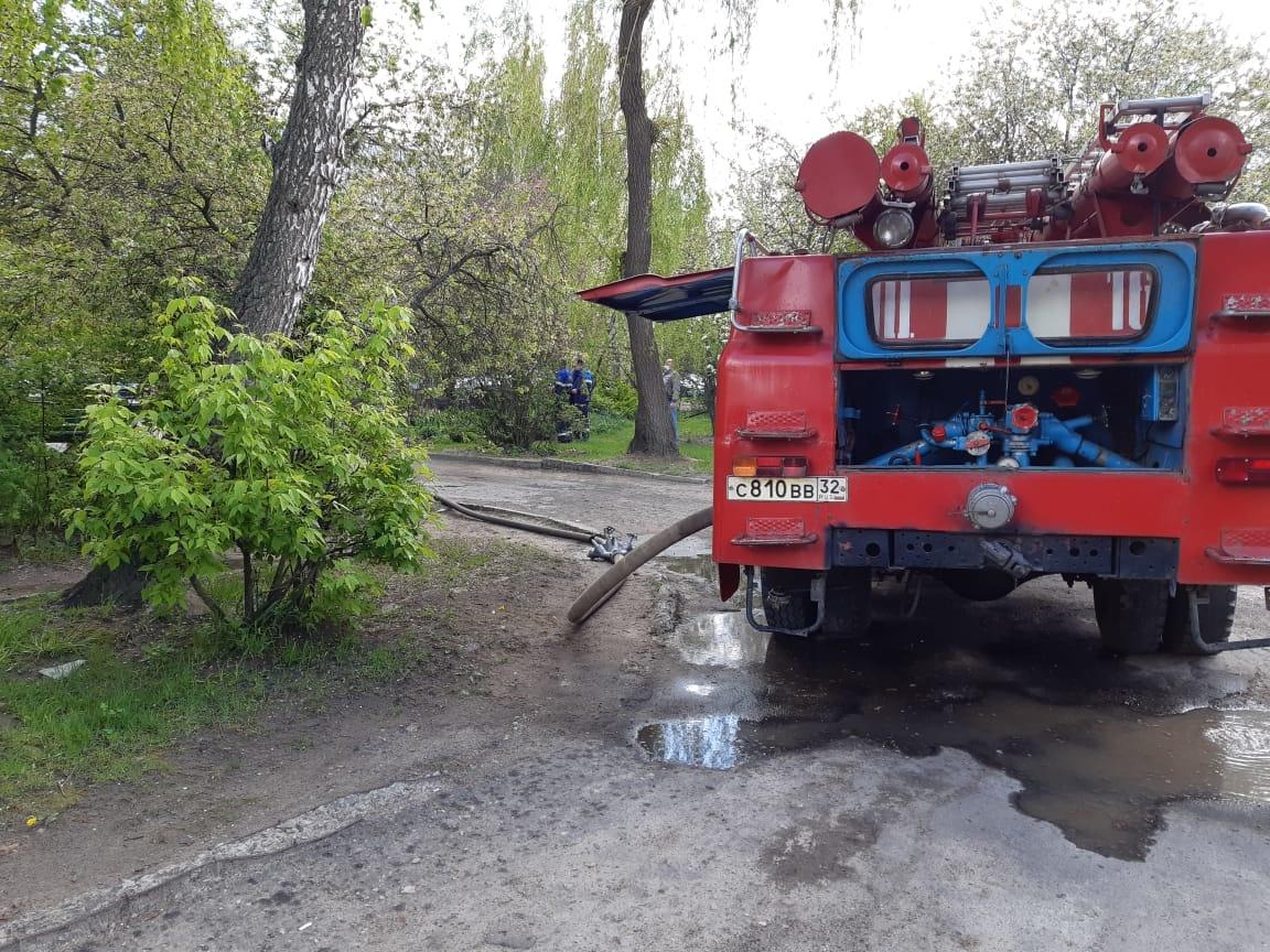 В Новозыбкове сгорел балкон жилого дома