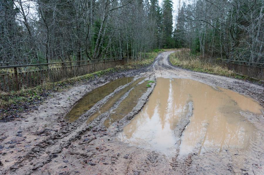 В Карачевском районе Брянской области из-за паводка дороги превратились в реки