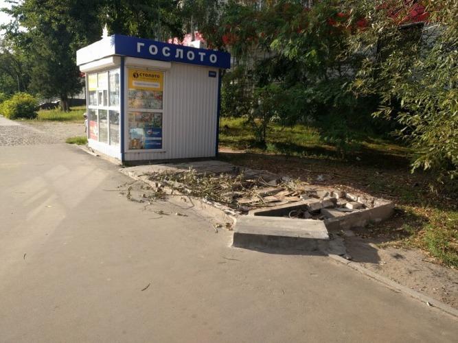 В Брянске снесли киоск «Союзпечать»