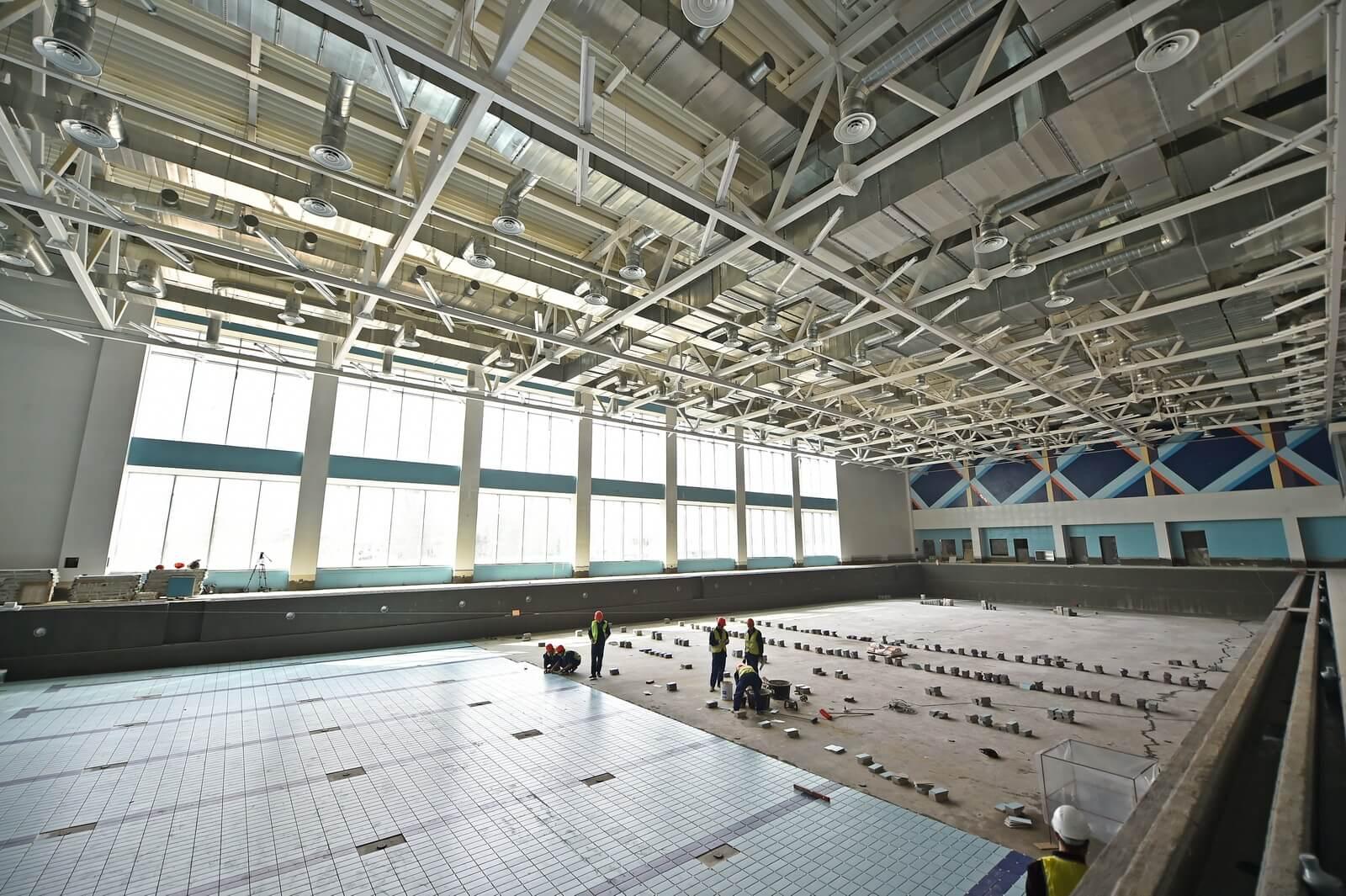 В Брянске спорткомплекс «Спартак» достроили на 85 процентов