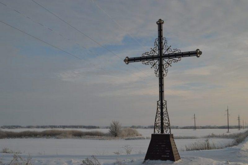 В Мглине освятили новый поклонный крест