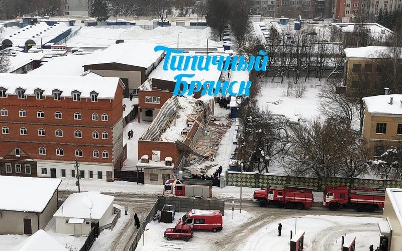 В Брянске на Центральном рынке рухнуло здание