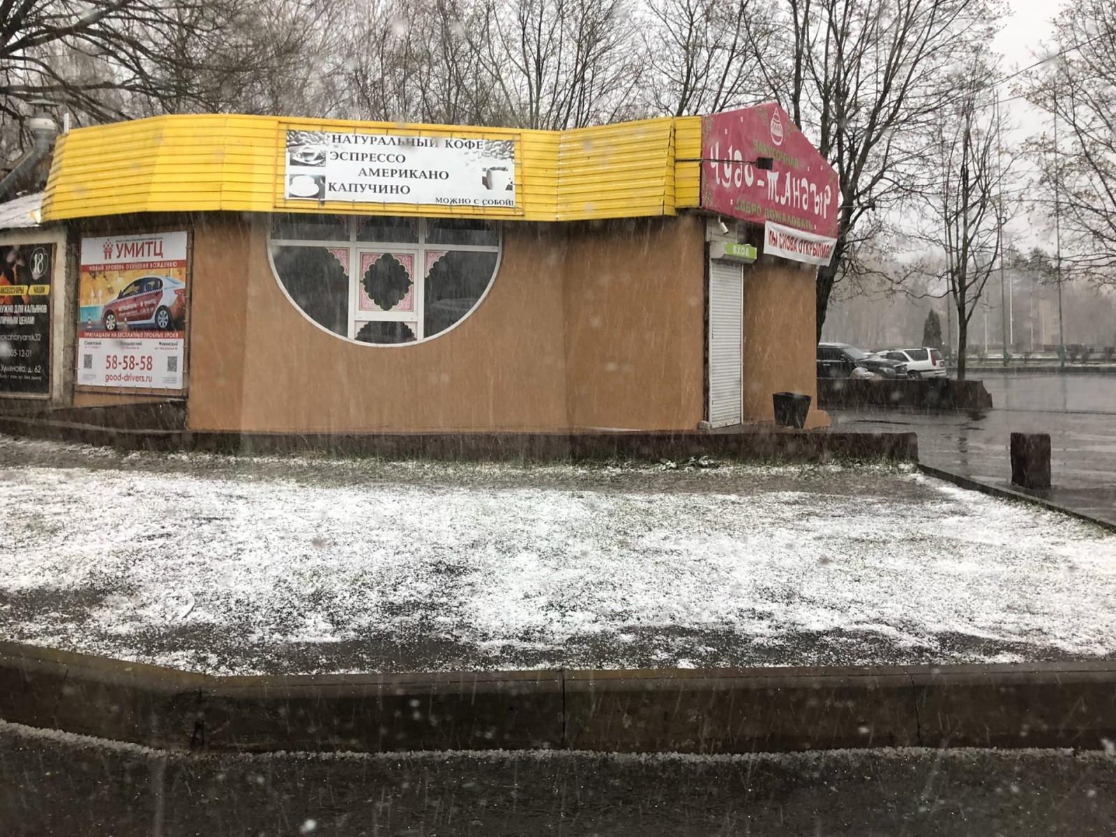 Брянск занесло снегом