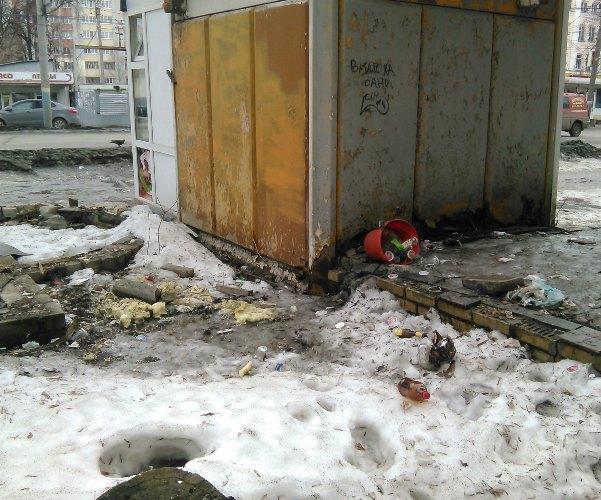 Брянский ларек с шаурмой утопает в мусоре