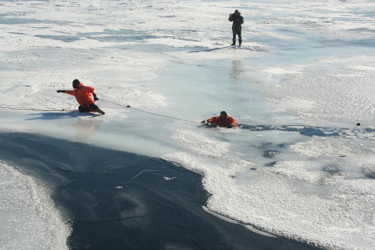 Жителям Брянска запретили выходить на замерзшие водоемы
