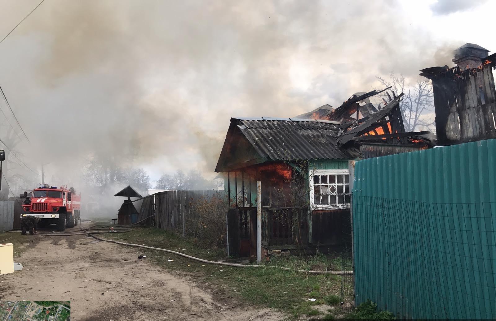 В Сельцо сгорели жилой дом и сарай