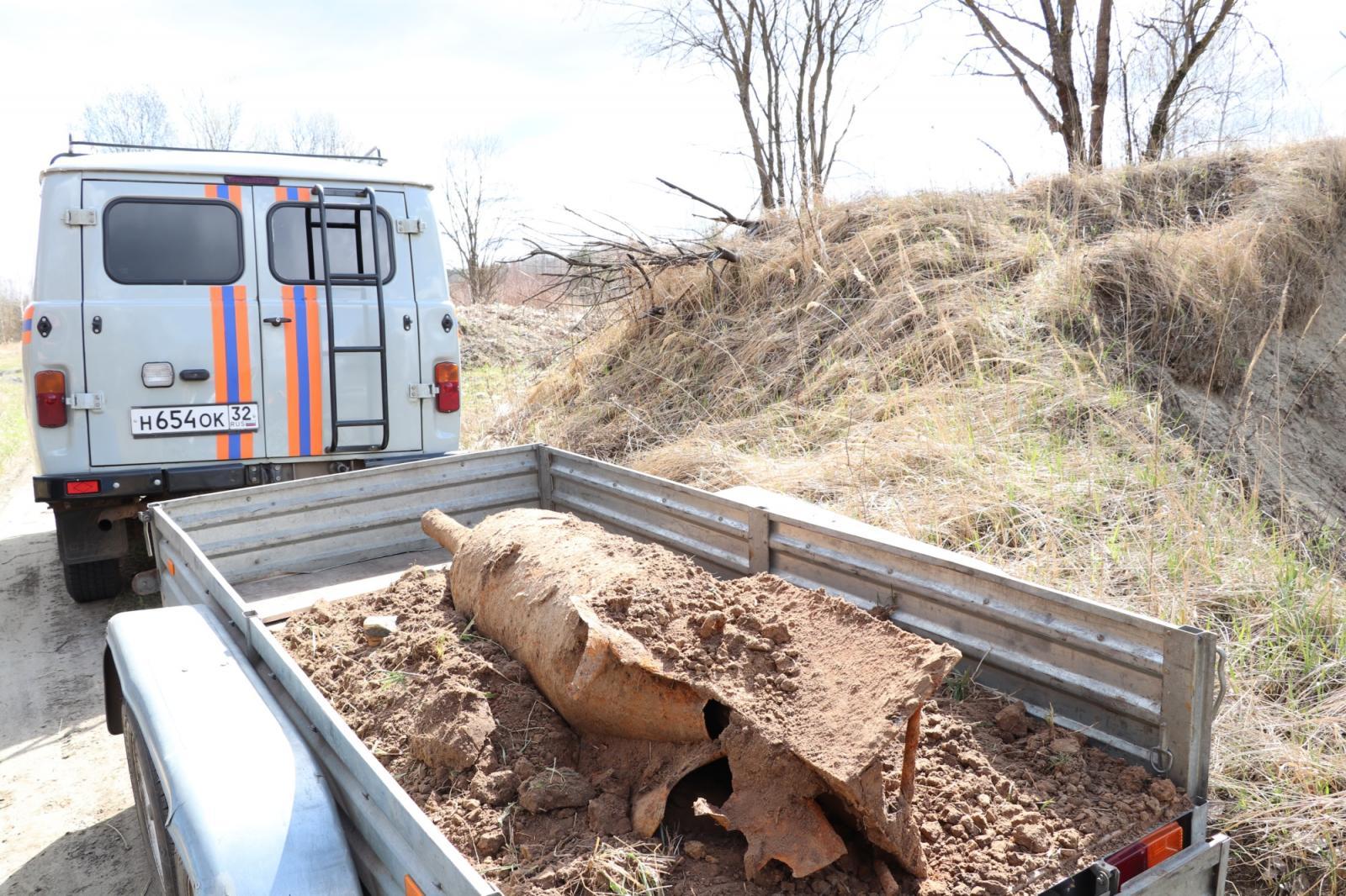 В Брянске нашли 250-килограммовую немецкую авиабомбу