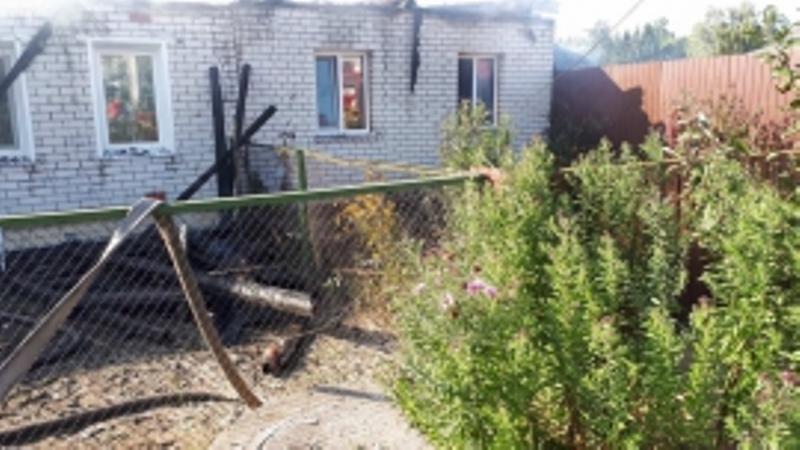 В Дятьково сгорел жилой дом