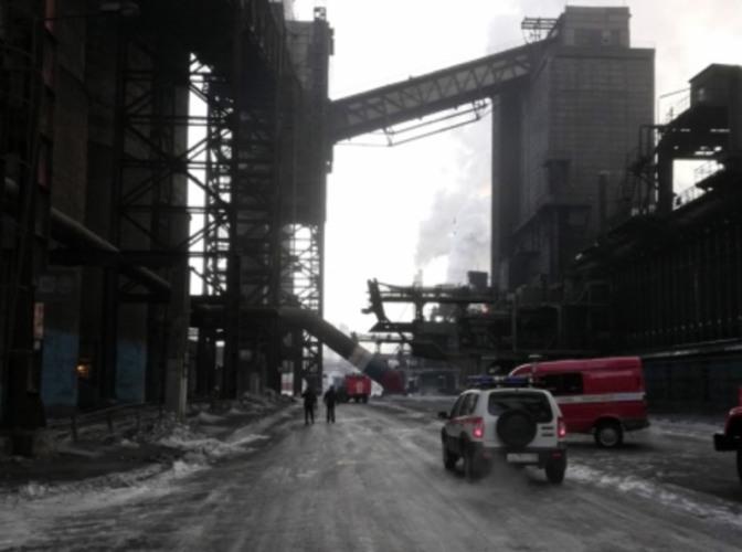 В Магнитогорске произошел крупный пожар на металлургическом комбинате