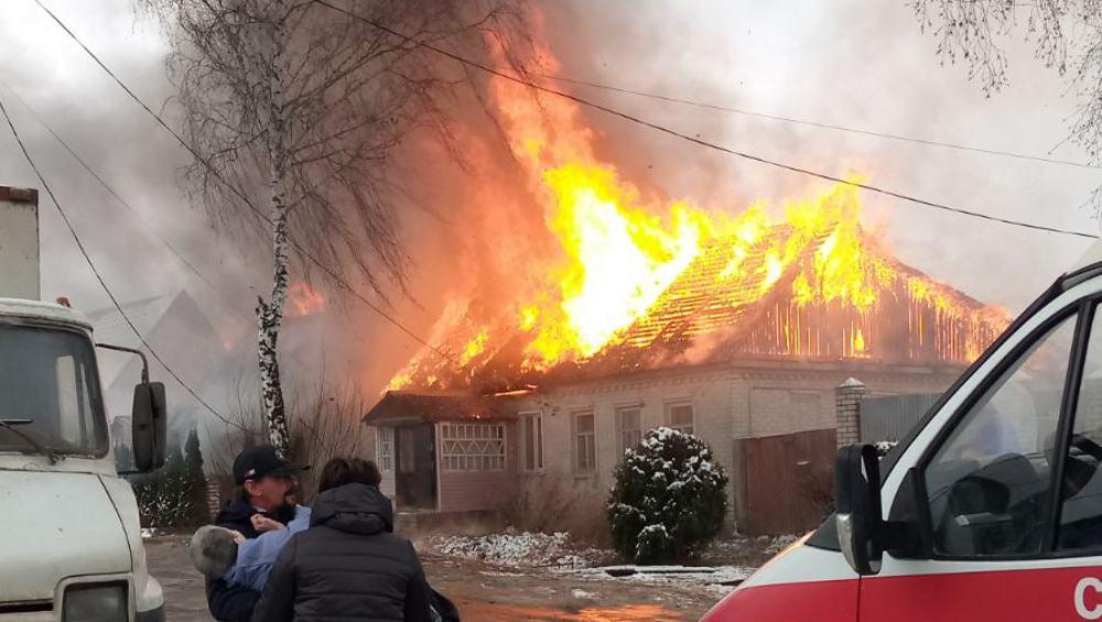 При пожаре в Погарском районе погибла 47-летняя женщина