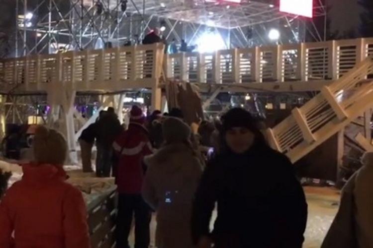 В новогоднюю ночь в Парке Горького обрушился мост с людьми