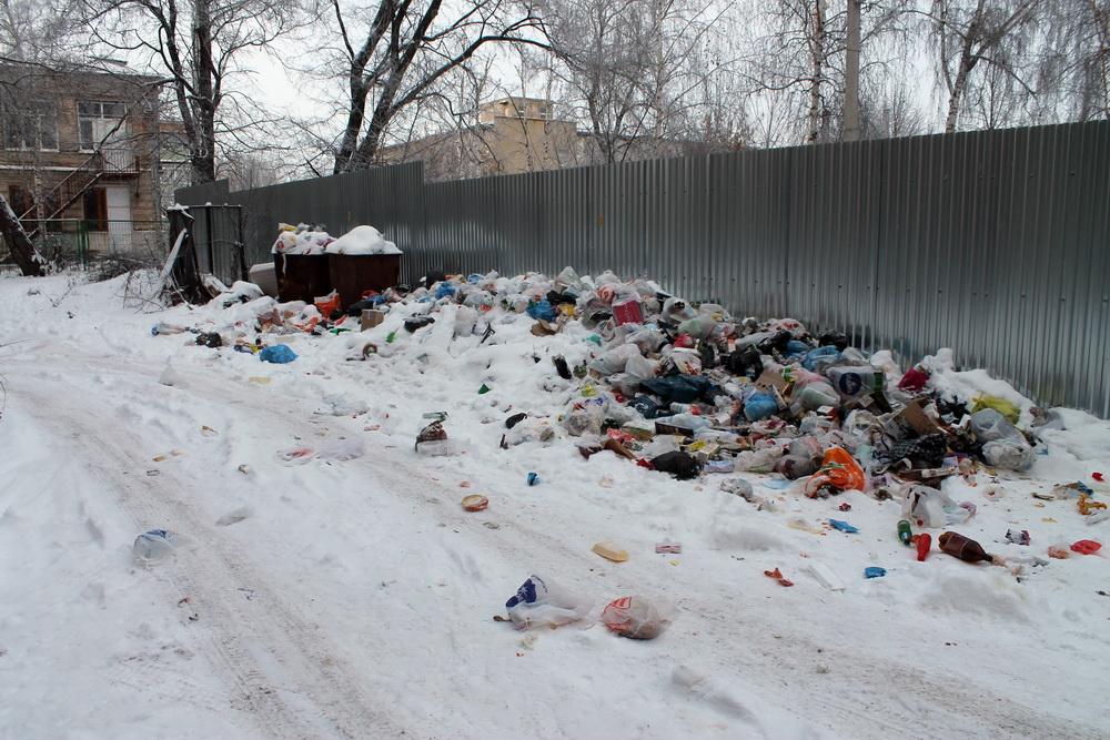В Брянске конечная остановка автобуса №31 превратилась в свалку